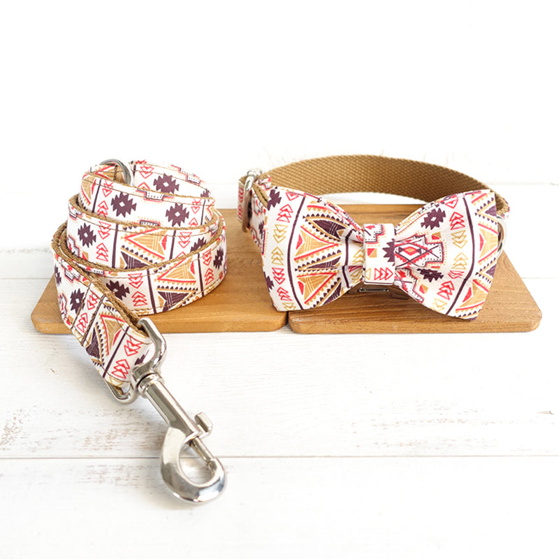 BROWN BOHEMIAN - Collar and Leash Set