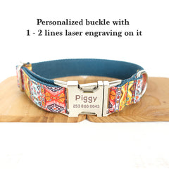 ETHNIC SUMMER - Personalized Dog Collar