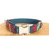 BLUE ETHNIC PATTERN - Personalized Dog Collar