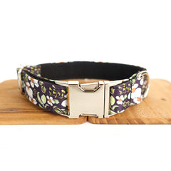 WHITE SUNFLOWERS II - Collar and Leash Set