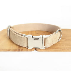 BEIGE COLOR - Personalized Dog Collar