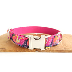 PINK GRAFFITI - Personalized Dog Collar