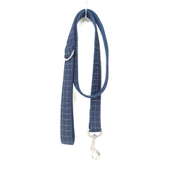 DEEP BLUE PLAID - Collar and Leash Set
