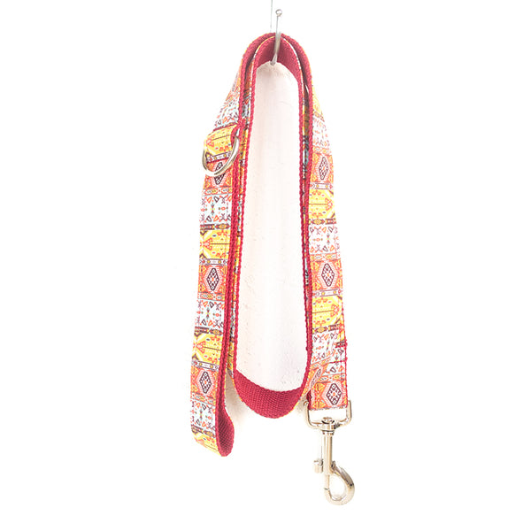 RED BOHEMIAN - Personalized Dog Leash