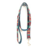 BLUE ETHNIC PATTERN - Personalized Dog Leash