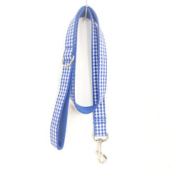 BLUE TABLE PLAID - Collar and Leash Set