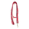 RED CHECKED - Personalized Dog Leash