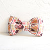 BROWN BOHEMIAN - Handmade Dog Bow Tie