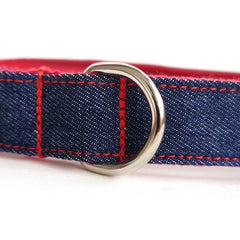 BLUE JEAN AND RED - Personalized Dog Leash