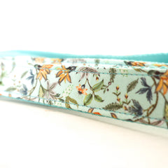 FLORAL IN BLUE - Personalized Dog Leash