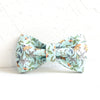 FLORAL IN BLUE - Handmade Dog Bow Tie