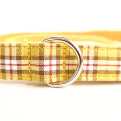 THE LEMON PLAID - Personalized Dog Leash