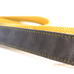 GRAY AND YELLOW - Personalized Dog Leash