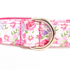 FLORAL IN PINK - Personalized Dog Leash