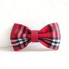 RED CHECKED - Handmade Dog Bow Tie