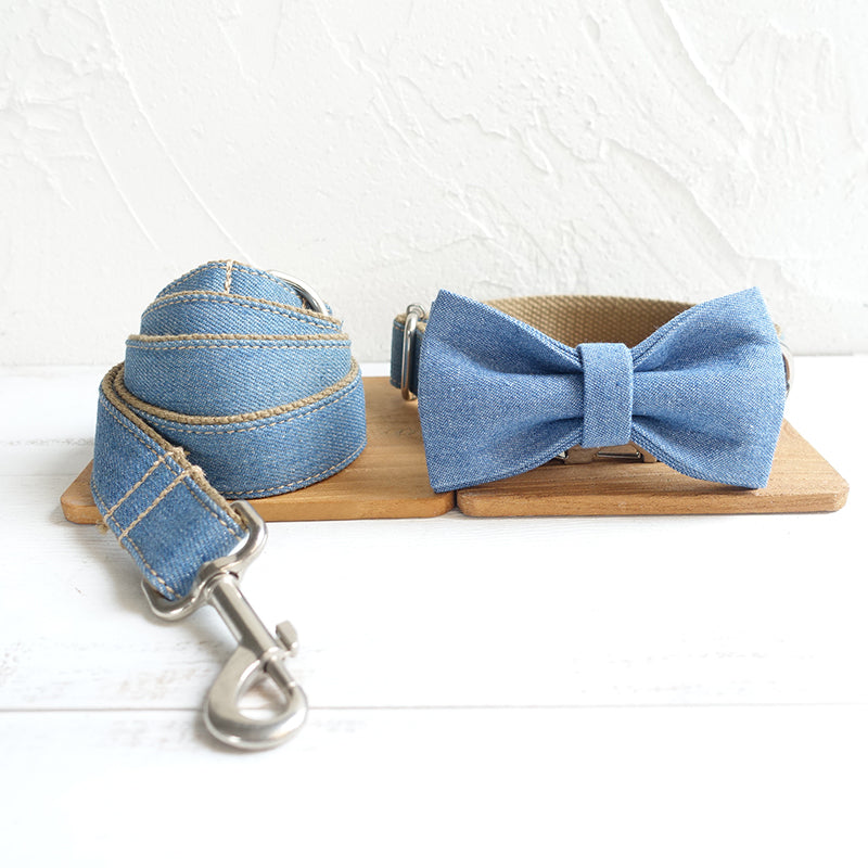 The Blue Jean - Collar and Leash Set