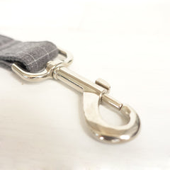 CHECKS GRAY - Personalized Dog Leash