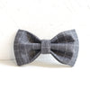 CHECKS GRAY - Handmade Dog Bow Tie