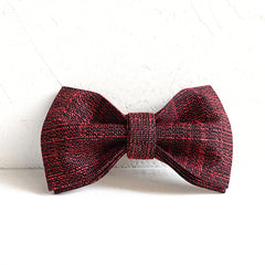 Red Blue Check Pattern - Handmade Dog Bow Tie