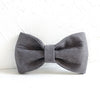 DEEP GRAY - Handmade Dog Bow Tie