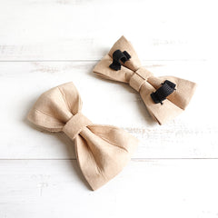 BEIGE COLOR - Handmade Dog Bow Tie