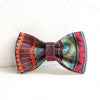 BLUE ETHNIC PATTERN - Handmade Dog Bow Tie