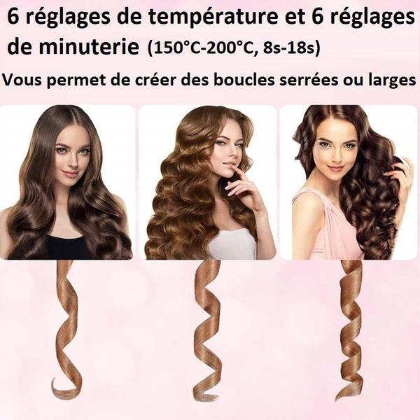 Boucleur à Cheveux En Céramique - Rotation Automatique Madame Cosmetique Chrome
