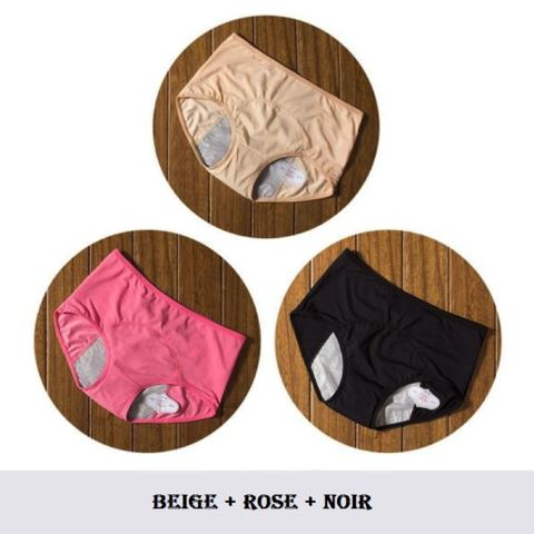 Culottes Menstruelles (lot de 3) Madame Cosmetique