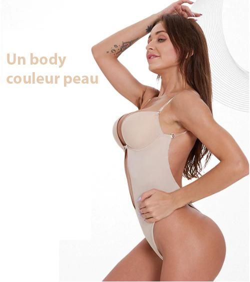 Body Gainant Dos Nu Madame Cosmetique Blanc S