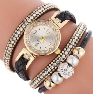 Montre Quartz + bracelets (lot de 4) Madame Cosmetique