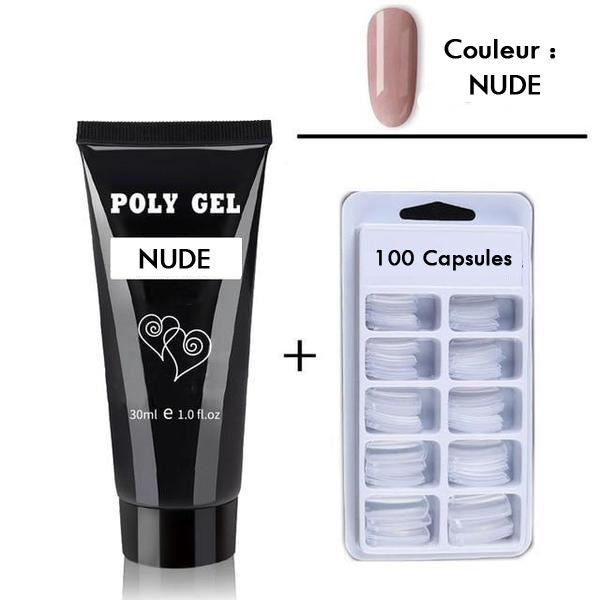 Kit d'ongles - PolyGel Madame Cosmetique Blanc