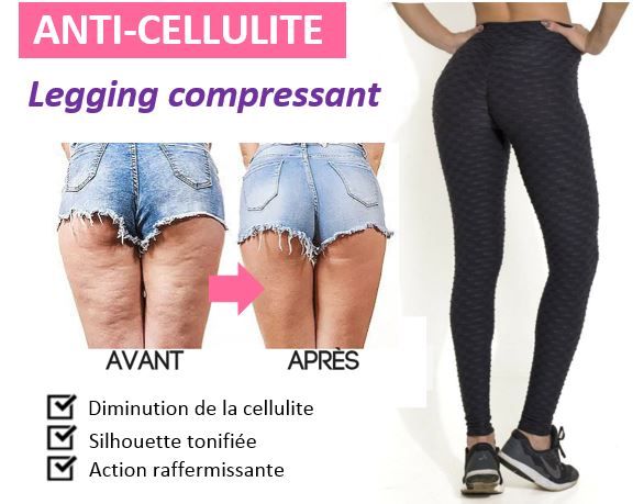 Legging Anti-cellulite Gainant Madame Cosmetique Noir L