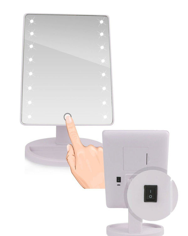 Miroir de star Haute Définition - 16/22 LED et Tactile 123maquillage China 16 LED BLANC
