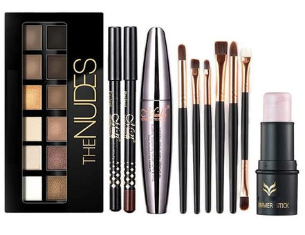 Kit Maquillage Complet Palette, Mascara & Pinceaux - Tendance NUDE 123maquillage