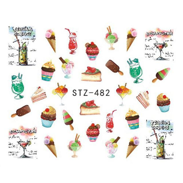 Stickers d'ongles - Nail Art - Fun - Fruits - Cupcakes & cie 123maquillage Fraises