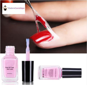 Latex de protection pour Vernis à Ongles - Peel Off Madame Cosmetique Rose
