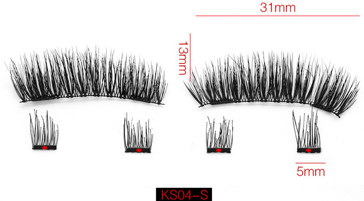 78c518b7bcf ... Load image into Gallery viewer, Tomiya 3D Magnetic Eyelashes Artificial  Eyelashes Set Reusable Synthetic Fiber ...