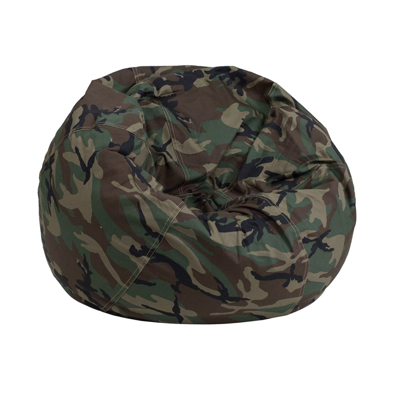 Cotton-Twill Personalize-able Child Sized Bean Bag in Camouflage Print
