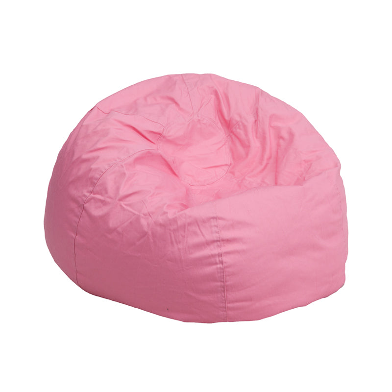 Cotton-Twill Personalize-able Child Sized Bean Bag in Solid Colors