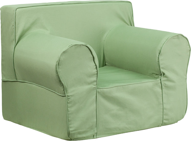 Cotton-Twill Personalize-able Oversized Kids Chair in Solid Colors