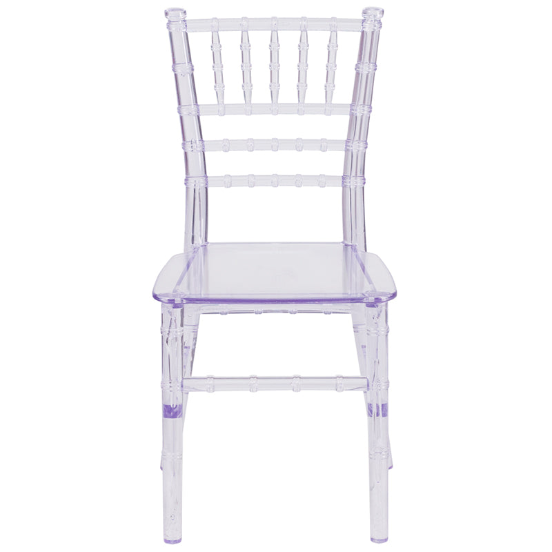 Resin Kids Crystal Transparent Chiavari Chair