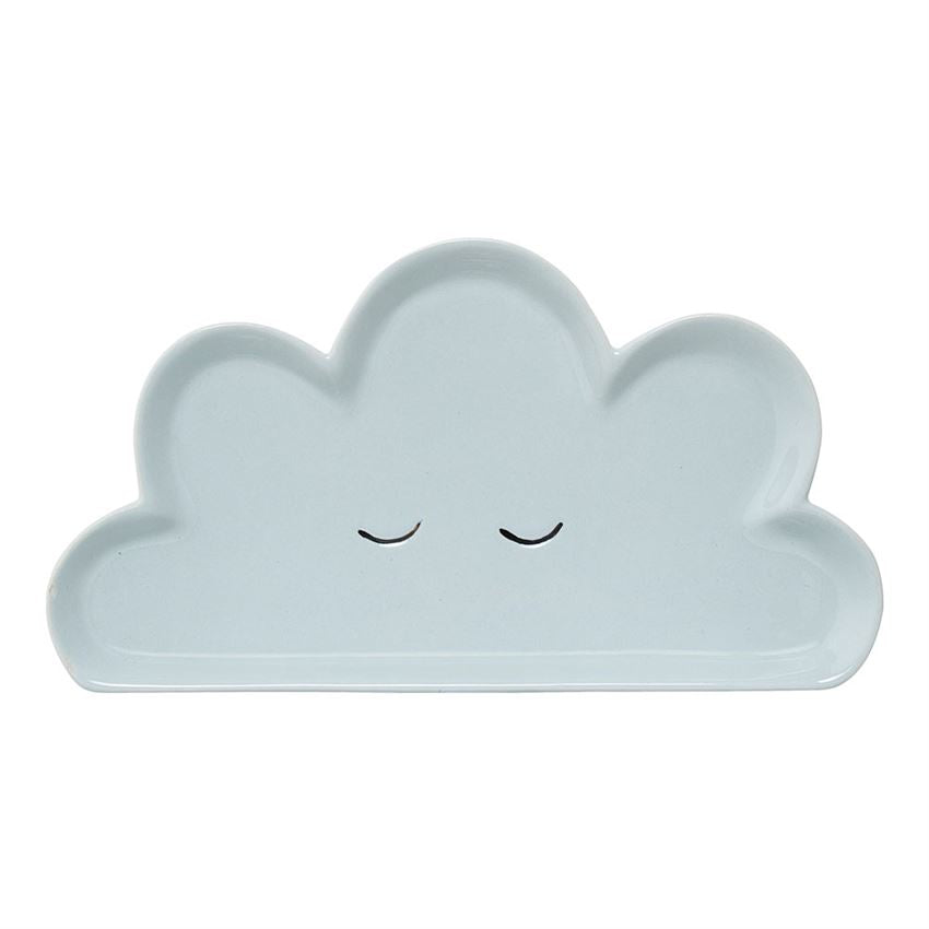 Ceramic Smilla Cloud Plate in Blue
