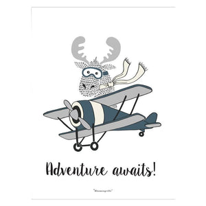 Adventure Awaits Poster - Wall Decor