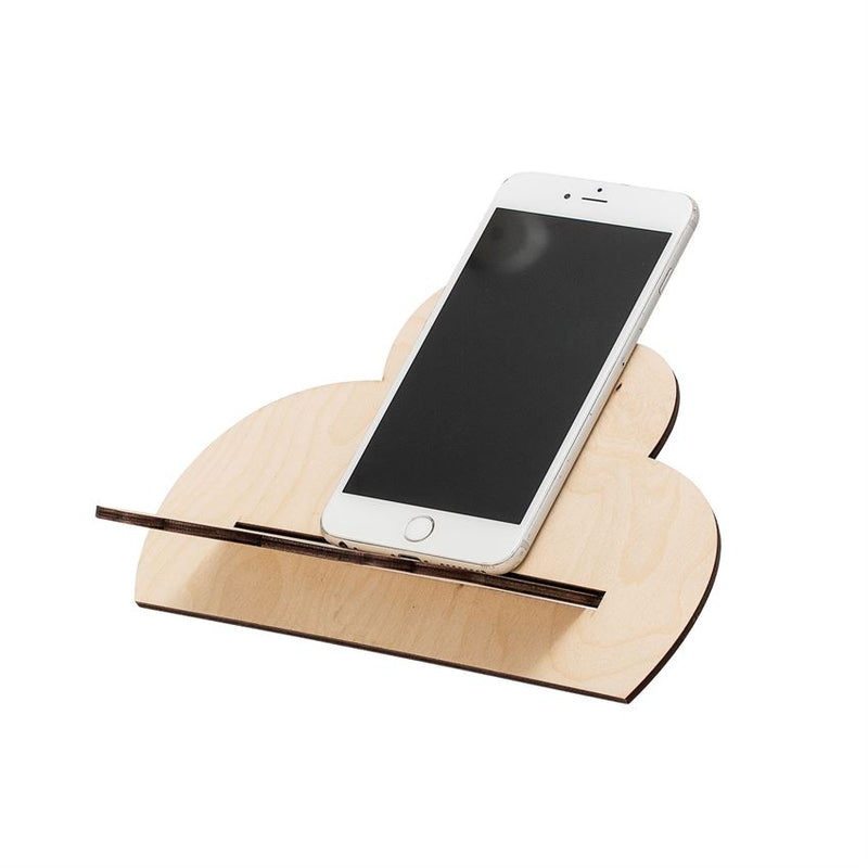 Wood Cloud Shaped Tablet Holder