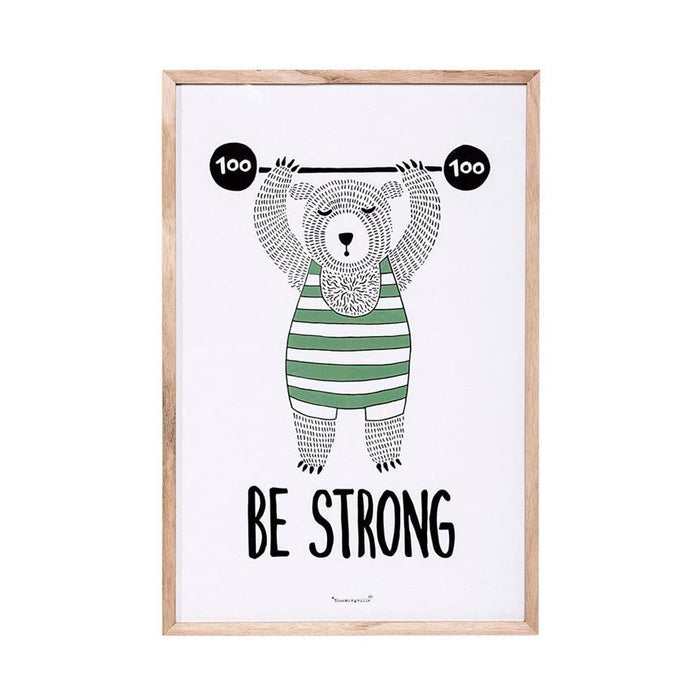 Be Strong Bear Wall Décor - Decor