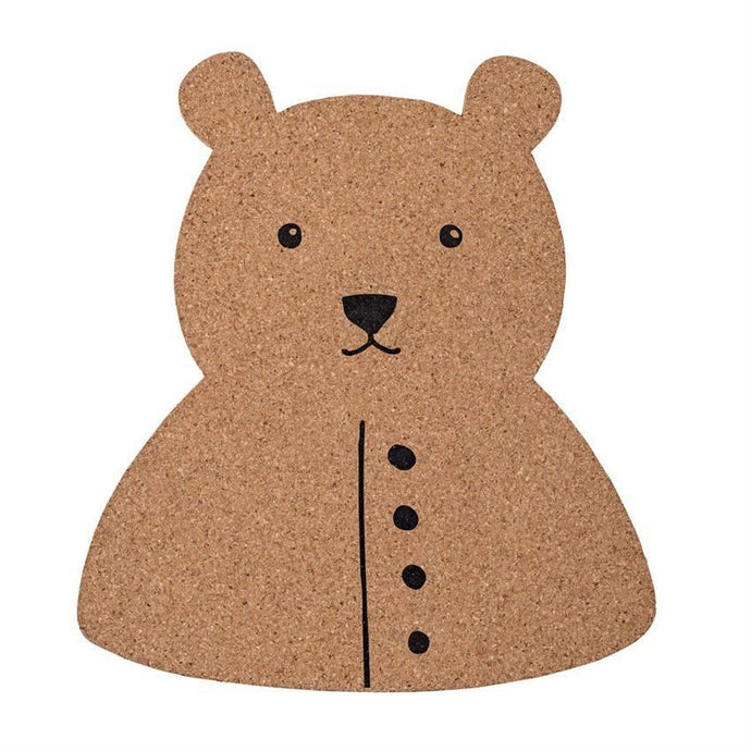 Bear Shaped Cork Board - Wall Decor