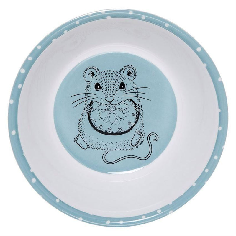 Blue And White Melamine Bowl With Mouse - Bowl