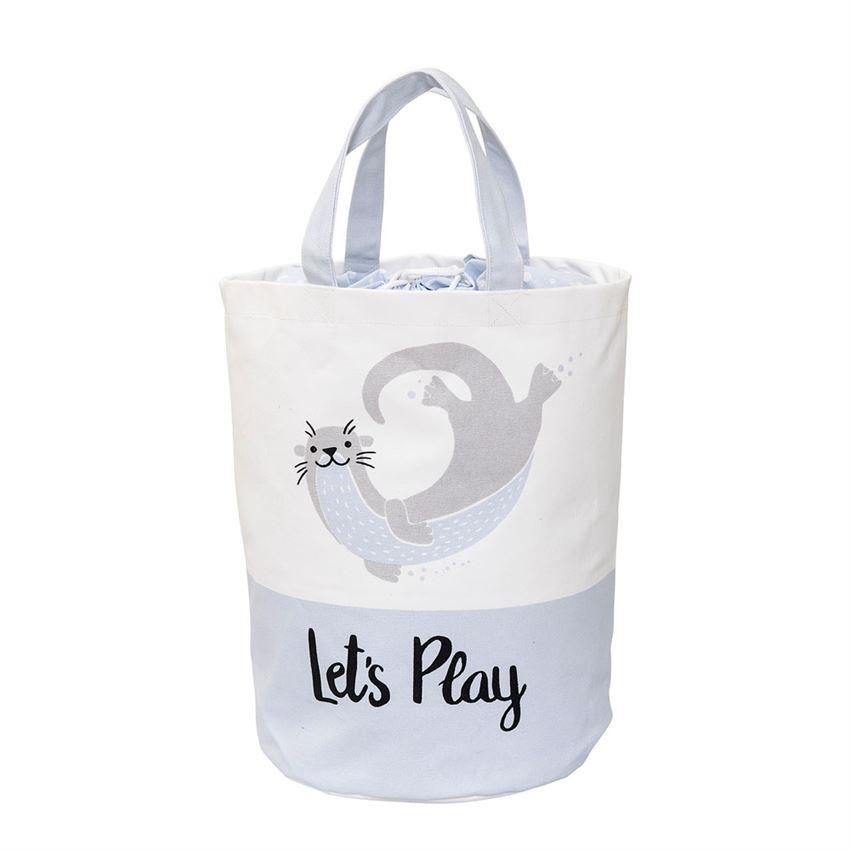 Blue Sea Otter Storage Bag - Decor