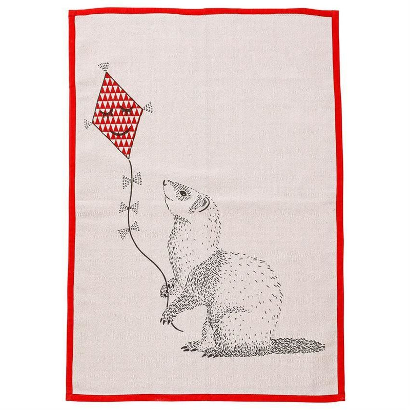 Blush Cotton Rug With Animal Flying Kite