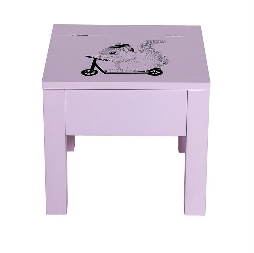 Blush Stool With Storage - Furniture